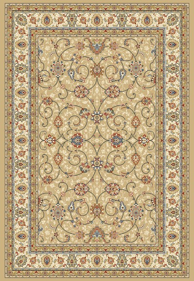 Ancient Garden 57120-2464 Lt.Gold/Ivory (24 Beige) Area Rug by Dynamic Rugs