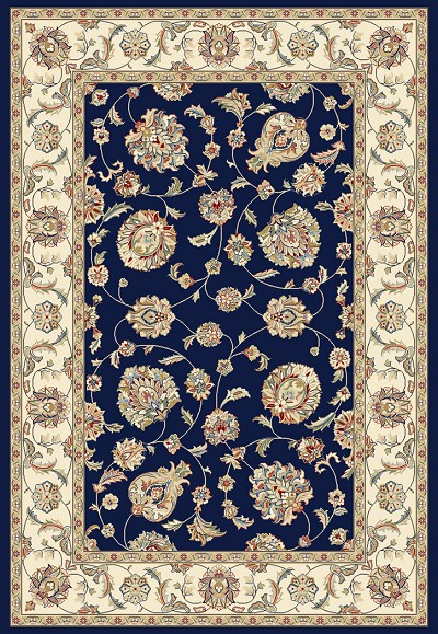 Ancient Garden 57365-3464 Blue/Ivory  (34 Navy) Area Rug by Dynamic Rugs