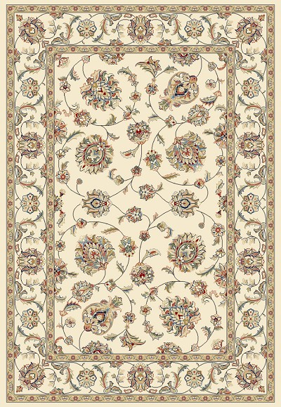 Ancient Garden 57365-6464 Ivory/Ivory (64 Pearl) Area Rug by Dynamic Rugs