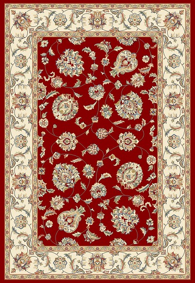 Ancient Garden 57365 -1414 Red/Ivory (14 Red) Area Rug by Dynamic Rugs
