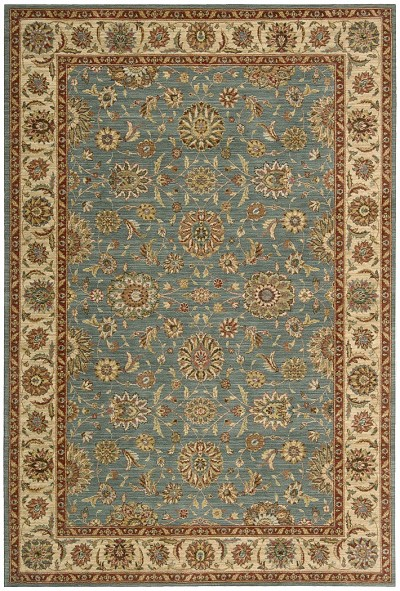 Living Treasures  LI05 Aqua Area Rug by Nourison