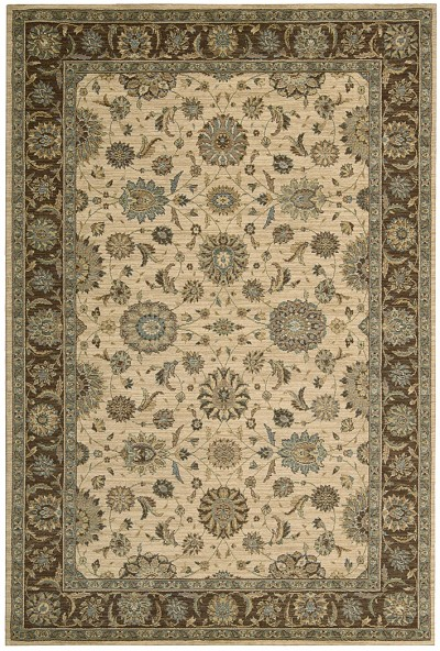 Living Treasures  LI05 Beige Area Rug by Nourison