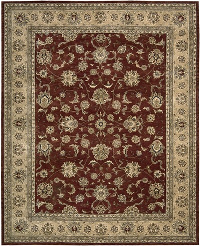 Nourison 2000 2203 Brick Area Rug by Nourison