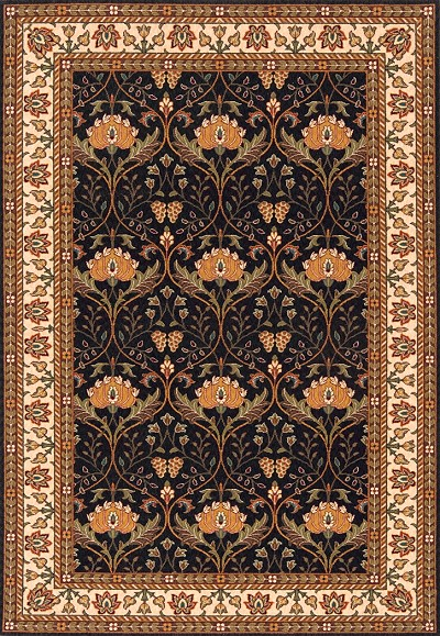 "Momeni Persian Garden PG-12 Charcoal 8'0"" X 10'0"" Area Rug - LAST ONE!"