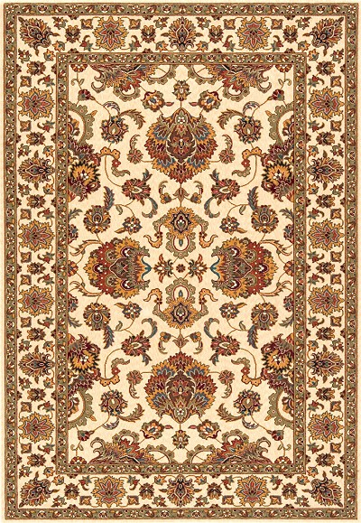 "Momeni Persian Garden PG-14 Ivory 5'0"" X 8'0"" Area Rug - LAST ONE!"