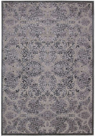 Nourison Graphic Illusions GIL05 Grey Area Rug