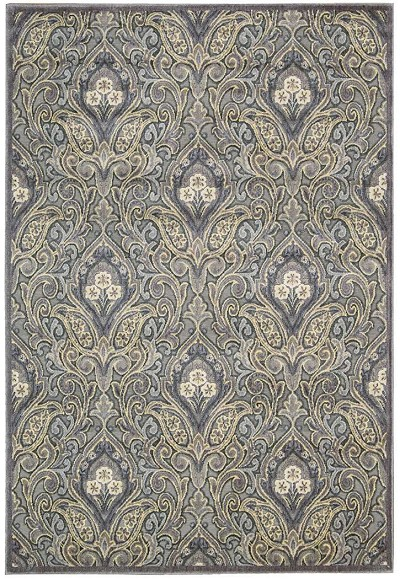 Nourison Graphic Illusions GIL11 Grey Area Rug