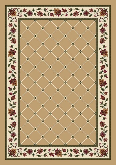 Symphony Trellis Wheat C4883-4310 Area Rug