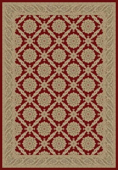 "Concord Global Trading Imperial 1170 Red 5'3"" X 7'7"" Area Rug"