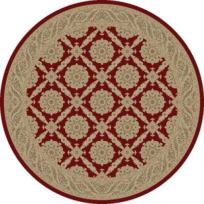 "Concord Global Trading Imperial 1170 Red 5'3"" Round Area Rug"