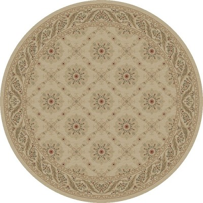 "Concord Global Trading Imperial 1172 Ivory 7'10"" Round Area Rug"