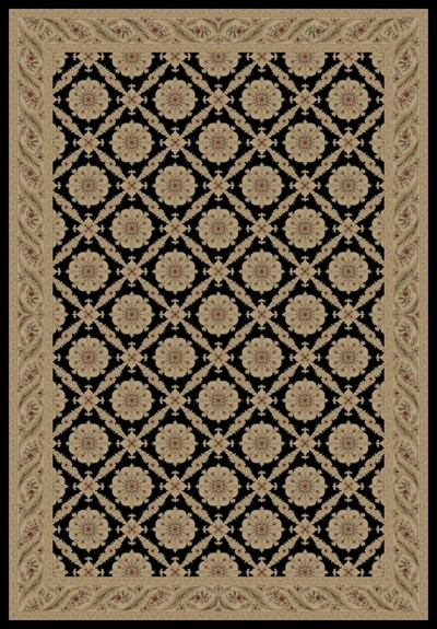 "Concord Global Trading Imperial 1173 Black 5'3"" X 7'7"" Area Rug"