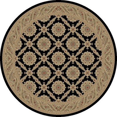 "Concord Global Trading Imperial 1173 Black 5'3"" Round Area Rug"
