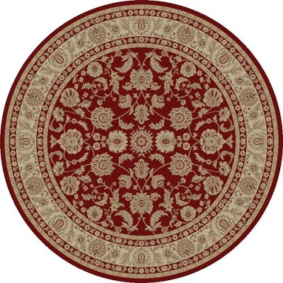 "Concord Global Trading Imperial 1190 Red 5'3"" Round Area Rug"