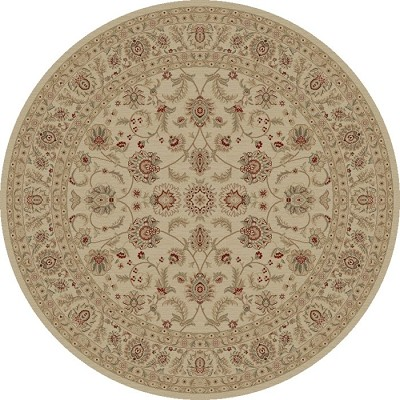 "Concord Global Trading Imperial 1192 Ivory 7'10"" Round Area Rug"