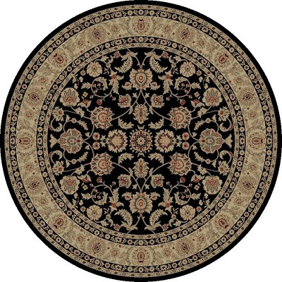 "Concord Global Trading Imperial 1193 Black 7'10"" Round Area Rug"