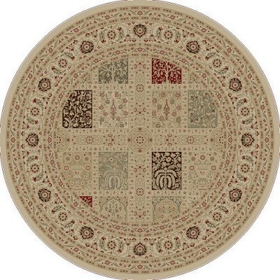 "Concord Global Trading Imperial 1232 Ivory 7'10"" Round Area Rug"