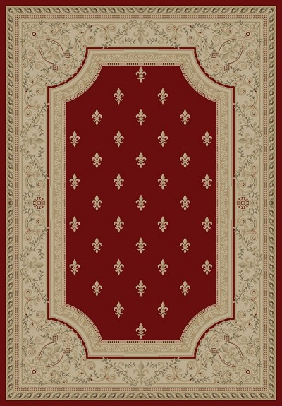"Concord Global Trading Imperial 1240 Red 6'7"" X 9'6"" Area Rug"