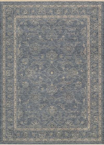 "Couristan Elegance 4517/0501 Blue 5'6"" X 7'8"" Area Rug - LAST ONE!"