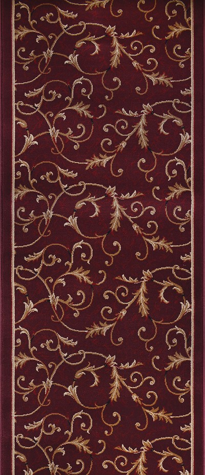 "Couristan Everest 3318-4873A Royal Scroll Mahogany 2'2"" (26"") Wide Hall and Stair Runner"