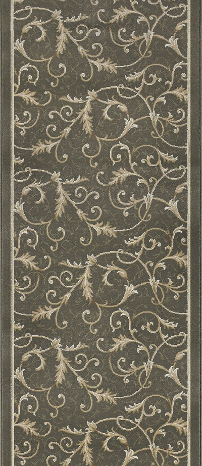 "Couristan Everest 3318-B882A Royal Scroll Oriental Green 2'7"" (31"") Wide Hall and Stair Runner"