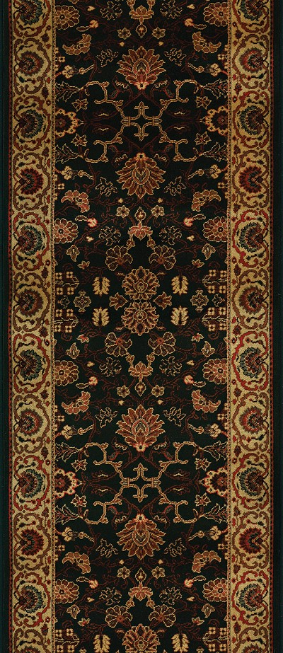 "Couristan Everest 3773-4876A Tabriz Midnight 2'2"" (26"") Wide Hall and Stair Runner"