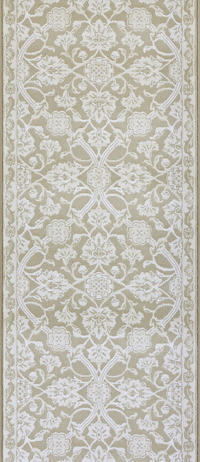 "Couristan Vivar CB13-B001A Champagne 2'7"" (31"") Wide Hall and Stair Runner"