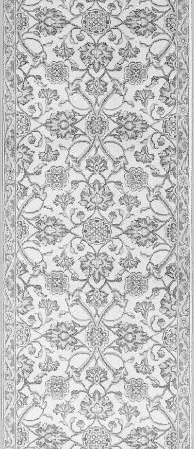 "Couristan Vivar CB13-B003A Pearl 2'7"" (31"") Wide Hall and Stair Runner"
