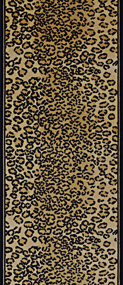 "Couristan Cape Town CB79-0003A Leopard 2'2"" (26"") Wide Hall and Stair Runner"