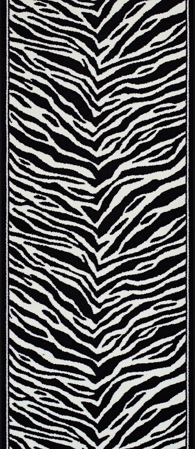 "Couristan Cape Town CB79-0005A Zebra 2'2"" (26"") Wide Hall and Stair Runner"
