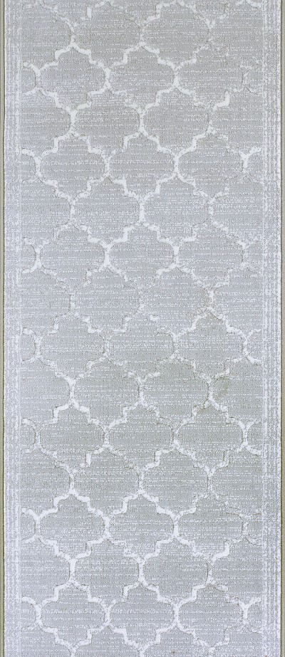 "Couristan Marina CB91-0003A Majorca Platinum 2'2"" (26"") Wide Hall and Stair Runner"
