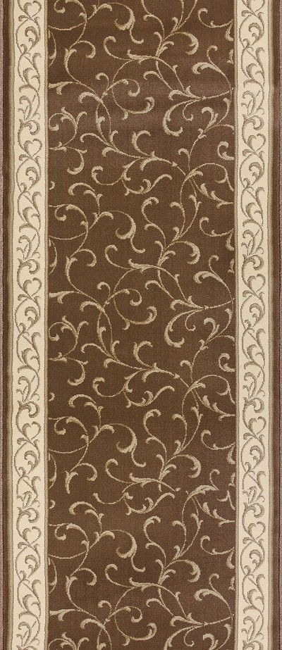"Couristan La Scala CBB2-B005A Chocolate 2'7"" (31"") Wide Hall and Stair Runner"
