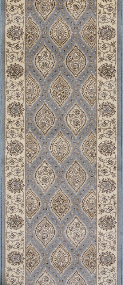 "Couristan Palladino CBD6-B003A Arezzo Steel Blue 2'7"" (31"") Wide Hall and Stair Runner"