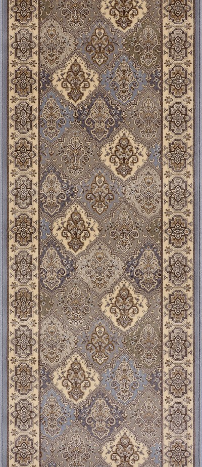 "Couristan Palladino CBD7-0001A Basilica Steel Blue 2'2"" (26"") Wide Hall and Stair Runner"