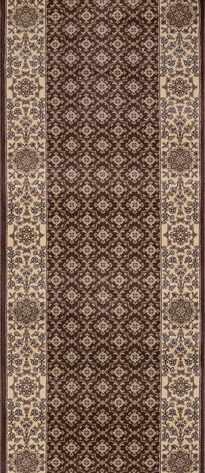 "Couristan Palladino CBD8-0002A Genoa Chocolate 2'2"" (26"") Wide Hall and Stair Runner"