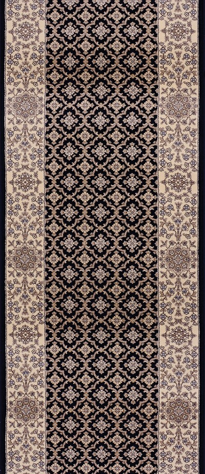 "Couristan Palladino CBD8-B003A Genoa Ivory 2'7"" (31"") Wide Hall and Stair Runner"