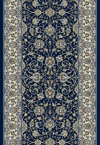 "Ancient Garden 57120-3464 Navy 2'7"" Wide Hall and Stair Runner"
