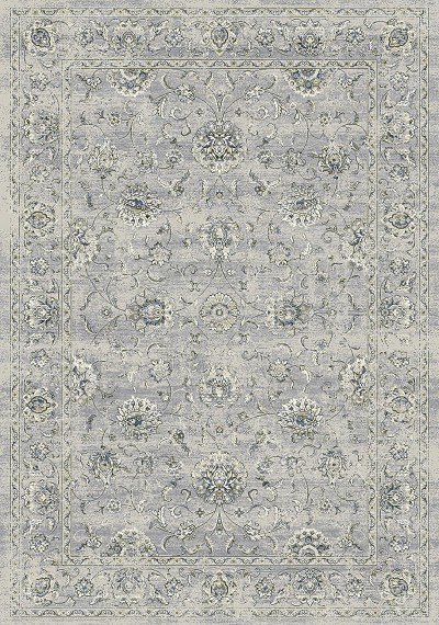 Ancient Garden 57126-9696 Silver/Grey Area Rug by Dynamic Rugs