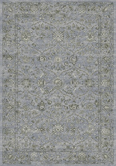 Ancient Garden 57136-4646 Steel Blue/Cream Area Rug by Dynamic Rugs
