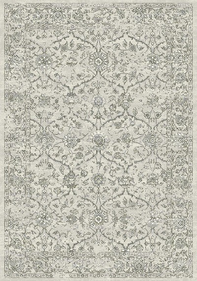 Ancient Garden 57136-9696 Silver/Grey Area Rug by Dynamic Rugs