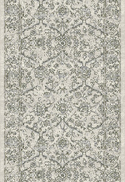 "Ancient Garden 57136-9696 Silver/Grey 2'7"" Wide Hall and Stair Runner"