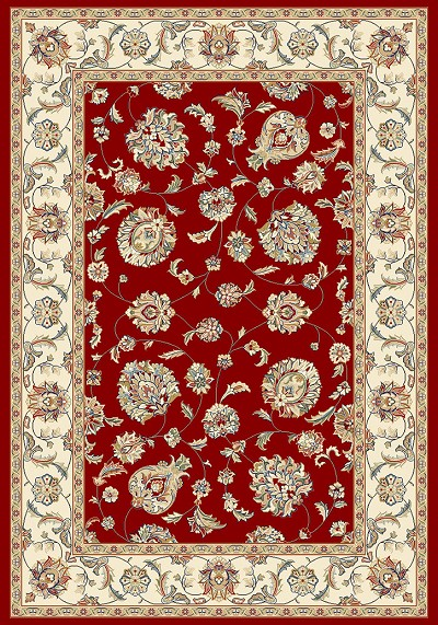 Dynamic Rugs Ancient Garden 57365-1464 Red/Ivory Area Rug