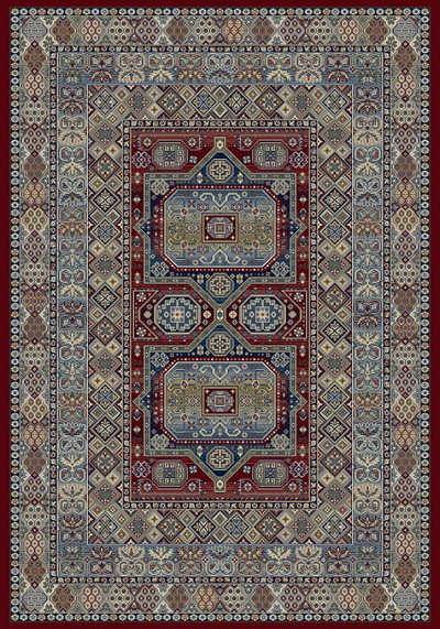 Dynamic Rugs Ancient Garden 57147-1454 Red Area Rug