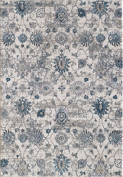 Dynamic Rugs Astoria 3375 150 Creamblue Area Rug Carpetmartcom