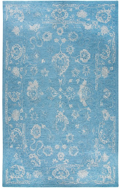 Dynamic Rugs Avalon 88800-507 Turquoise Silver Area Rug