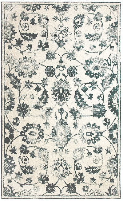 Dynamic Rugs Avalon 88803-105 Ivory Teal Area Rug