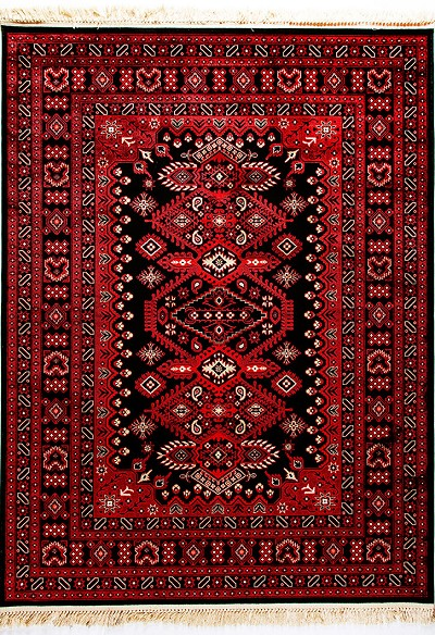 Dynamic Rug Crown 16223 090 Red Black Area Rug Carpetmartcom