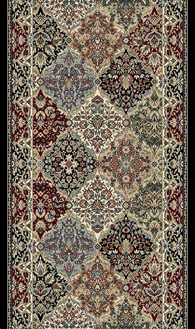 "Ancient Garden 57008-3233 Multi 2'7"" Wide Hall and Stair Runner"