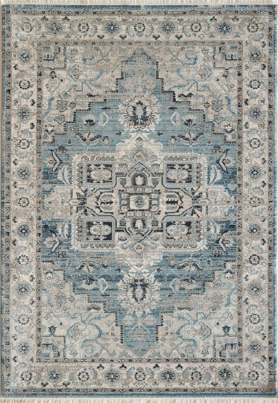 Dynamic Rugs Juno 6882 500 Light Blue Cream Area Rug Carpetmart Com