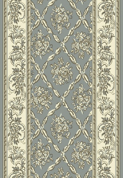 "Dynamic Rugs Legacy 58018-510 Light Blue/Ivory 2'2"" Wide Hall and Stair Runner"